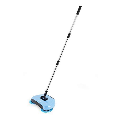 Harper Balai a Brosses Rotatives Modele Easy Broom Blue, Acier Inoxydable, Bleu, Taille Unique