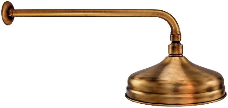 Gariella Regenbrause -  215mm - 105 Düsen - Old Brass - mit Wandarm 40cm