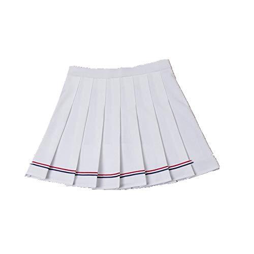 N\P Falda de mujer de cintura alta plisada falda de rayas cintura elástica falda de mujer falda corta falda a cuadros