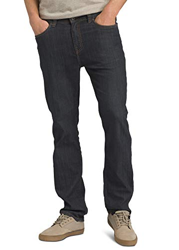 prAna - Men's Bridger Lightweight, Tapered, Durable, Stretch, Slim-Fit Jeans, 30' Inseam, Denim, 32