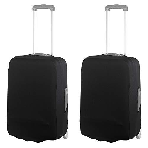 Xcase Kofferabdeckung: 2er-Set elastische Schutzhülle für Koffer bis 53 cm Höhe, Größe M (Trolleyüberzüge)