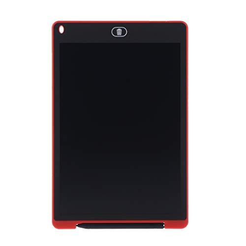 MagiDeal Tablero De Mensajes De Notas De Dibujo E-Writer De Tableta Portátil De 12'LCD Ultradelgado - Rojo
