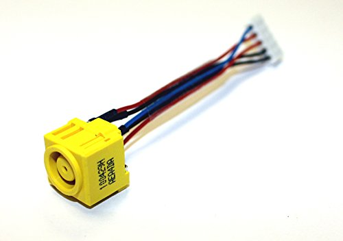 Power4Laptops Conector de alimentación portátil con Cable Compatible con Lenovo Thinkpad T61