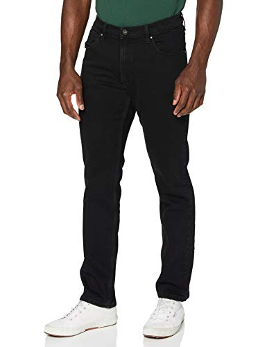 Wrangler Herren Authentic Regular Jeans, Schwarz (Black Rinse 107), 44x32