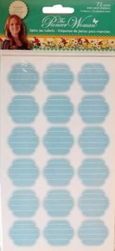 The Pioneer Woman Spice Jar Labels - Etiquetas de jarras para especias