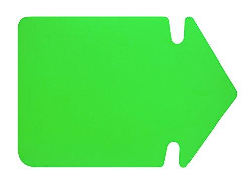 Folia 667 941 – Symbole de la Publicité – Flèche, Env. 24 cm, 20 pièces, leuchtgrün