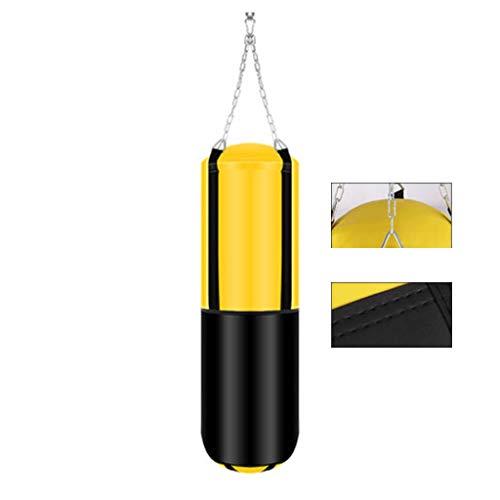Punchingbälle Sandsack Boxing Sling Sandsäcke Hohl Sandsack Sanda Vertikale Ausrüstung Robuster Kick Home Hanging Sandsäcke Sports Training Sandsäcke (Color : Yellow, Size : 100 * 29 * 18cm)