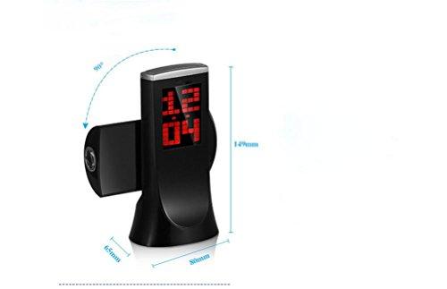 MFFACAI Projektion Uhr, 180 Grad Rotation Projektion, Thermometer Countdown kreative elektronische Wecker