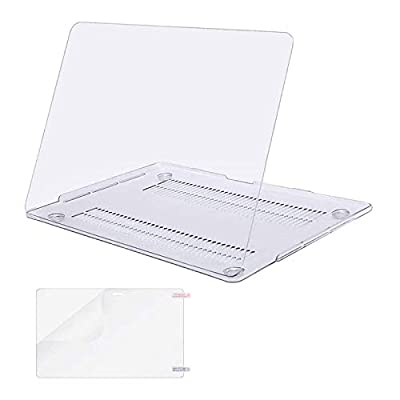 MOSISO MacBook Pro 13 inch Case 2019 2018 2017 2016 Release A2159 A1989 A1706 A1708, Plastic Hard Shell Case&Screen Protector Compatible with MacBook Pro 13 inch with/Without Touch Bar, Crystal Clear