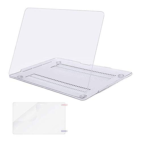 MOSISO Compatible with MacBook Pro 13 inch Case 2016-2020 Release A2338 M1 A2289 A2251 A2159 A1989 A1706 A1708 with/Without Touch Bar, Plastic Hard Shell Case Cover & Screen Protector, Crystal Clear