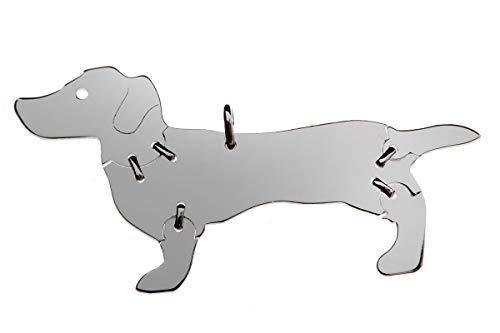 Perro salchicha de 2Perros Animales de colgante Medium colgante de plata de ley 925joyas 005cm