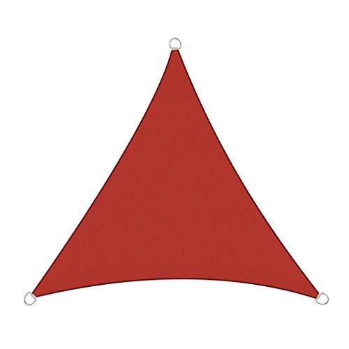 Filet d'ombrage Filet D'ombrage Filet D'ombrage Triangle Taux D'ombrage De 90% Épaissir Le Cryptage Toile D'Ombrage Voile Ombrage pour Garden Patio Yard Party (Color : Red, Size : 3.5 x 3.5 x 3.5m)