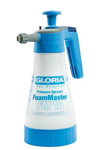 GLORIA FoamMaster FM 10 | Schaumsprüher | 1 L Füllinhalt | Austauschbare Schaumpatronen | Drucksprüher zur Autoreinigung