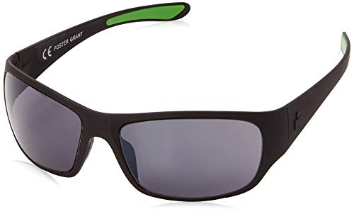 Ironman Men's Flex Wrap Sunglasses, Matte Black Rubberized, 62 mm