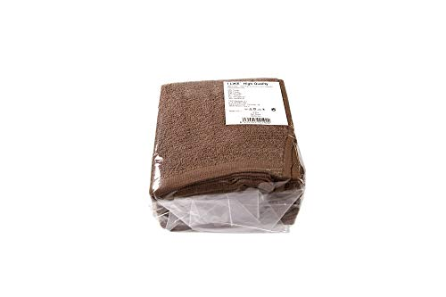 I LIKE Pack 12 UDS Toalla 300 GR. Chocolate 30 X 30 Facial 100% ALGODÓN