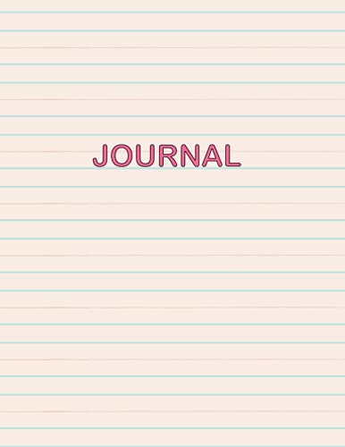 Journal: 400 pages, 8.5 x 11 inches, pink notebook, 200 sheets/400 pages, classic 400 lined pages, college paper, perfect cover, soft cover