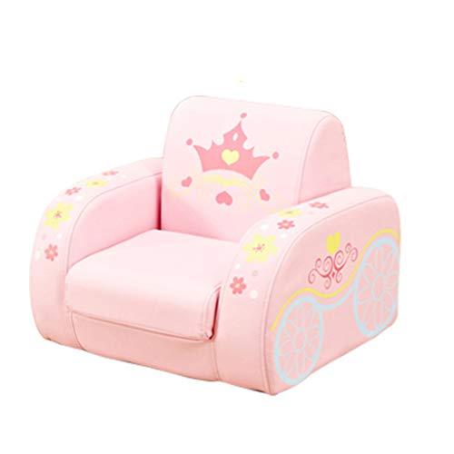 JIE KE Kinderstoel Voor Meisjes Jongens, Kinderen 2 In 1 Flip Open Foam Sofa Voor Slaapkamer Comfortabele Sofa