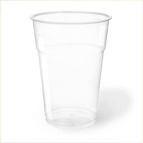 Virsus 300 Bicchieri Kristal 400ml in PLA 6 CF da 50pz per Birra Cocktail Bar Biodegradabili e Compostabili rispetta l'ambiente NaturaBio