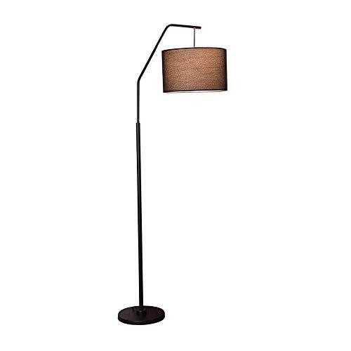 LEGELY Moderne metalen vloerlamp voor lezen woonkamer slaapkamer / E27 zwart metaal vloerlamp, stude/doek schaduw / 160 cm