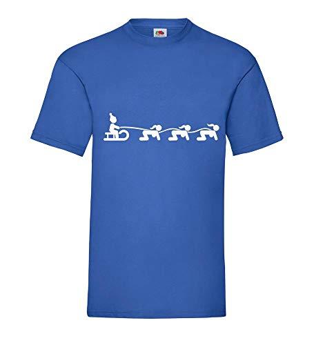 Weihnachtsschlitten mit Doggy Style Engel Männer T-Shirt Royal Blau 3XL - shirt84.de