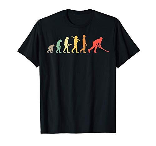 Retro Hockey Evolution Geschenk für Hockeyspieler T-Shirt