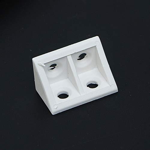 FEANG Protector de esquina de plástico de 90 grados de código de ángulo policromático, apto para armarios, armarios de pared, accesorios de esquina de muebles de esquina (color: lechoso, tamaño: A)