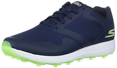 Skechers Women's Max Golf Shoe, Navy/Green, 6.5 M US