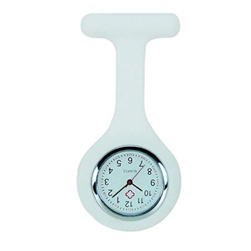 Lodenlli Reloj de Silicona para Enfermera, Reloj médico de Bolsillo para médico, Broche, túnica, Reloj con batería Gratis