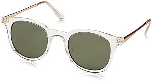 A.J. Morgan unisex adult Inline Sunglasses, Crystal, 46 mm US