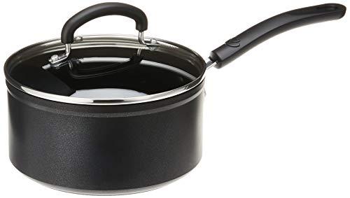 T-fal C5612464 Titanium Advanced - Cazo antiadherente para utensilios de cocina, 3 cuartos de galón, color negro