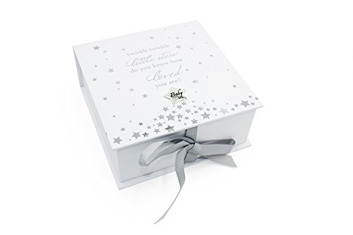 Baby Keepsake Box Twinkle Twinkle Little Star with Icons Baby Gift and Gift Bag