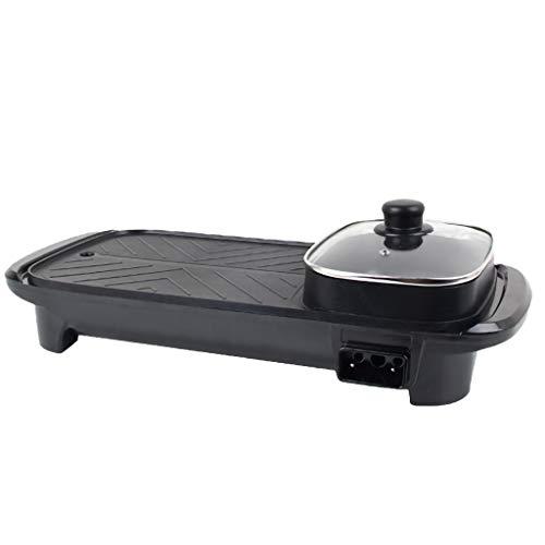 GXFCH SHOP Teppanyaki Grill, 1300W Elektrogrill,Mehrzweck Leicht Zu Reinigen BBQ-Tischplatte Mit Verstellbarer Temperaturregelung,Antihaftbeschichtung
