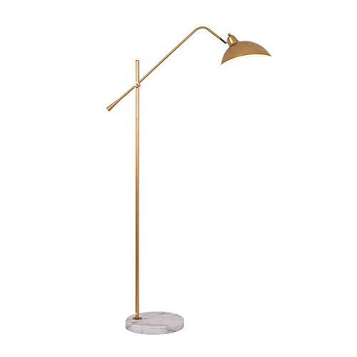 Yxxc Lámpara de pie arqueada Moderna Lámparas de pie Lámpara de pie Diseño Simple Lámpara de pie Moderna de Color Dorado y Negro Brazo oscilante Ajustable