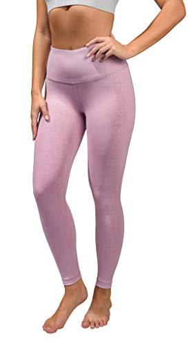 90 Degree By Reflex Performance Activewear - Printed Yoga Leggings - Marble Carnival - Medium