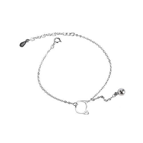 THTHT S 925 sterling zilveren armband mode vrouwen eenvoudige bel kat retro temperament sieraden creatief lief persoonlijkheid verjaardagscadeau