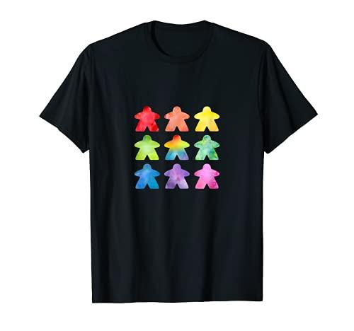 The Watercolor Meeple   Gran regalo para frikis de juegos de mesa Camiseta