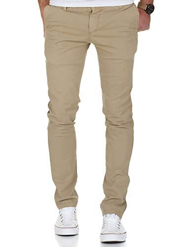 Amaci&Sons Herren Vintage Slim Fit Stretch Chino Hose Jeans 7011 Sand Vintage W31/L32