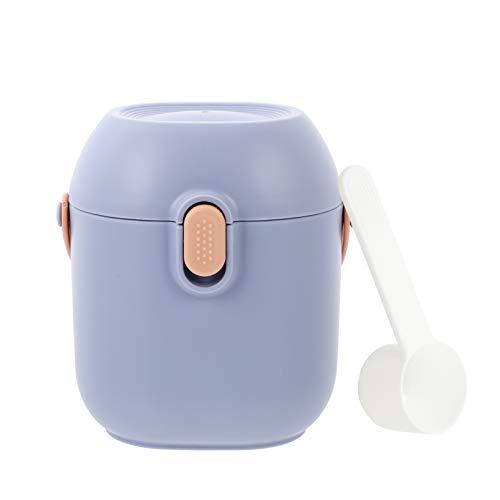 TOYANDONA 1 Unidad Dispensadora de Fórmula para Bebés con Cuchara Contenedor Portátil de Leche en Polvo Contenedores de Alimentos para Bebés para Viajes de Bebés Púrpura