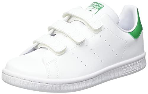 adidas Stan Smith CF C, Scarpe da Ginnastica, Ftwr White/Ftwr White/Green, 35 EU