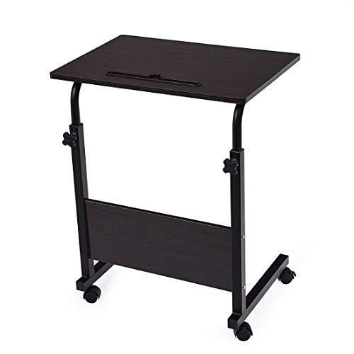 DGDG Einstellbare Overbed Tisch, Laptop Ständer tragbares Stehpult mit arretierbaren Rollen Beistelltisch for Sofa-Bett Krankenhaus R