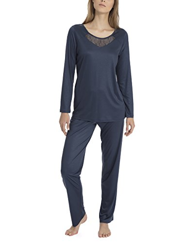 CALIDA Damen Azalea Zweiteiliger Schlafanzug, Blau (Space Blue 478), Large