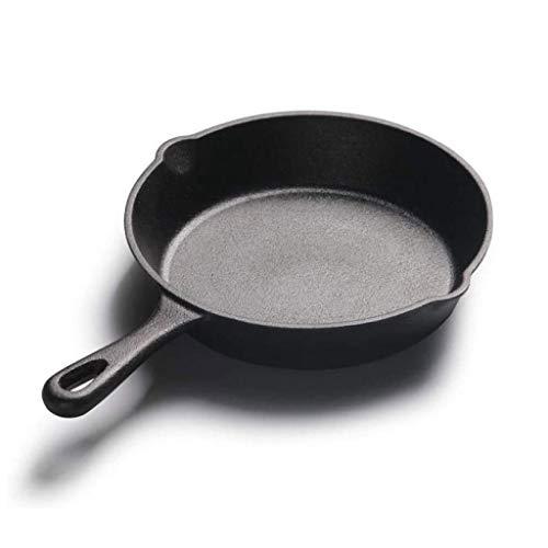 SPNEC Pan de Hierro Fundido, Pequeño Sartén, Mini sin Recubrimiento Antiadherente Desayuno sartén-Sartén