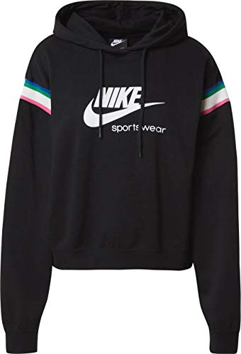 Nike Heritage - Sudadera con capucha para mujer negro XS