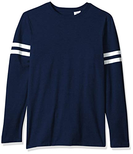 Soffe Men's Striped Sleeve Tee, Navy, XX-Large