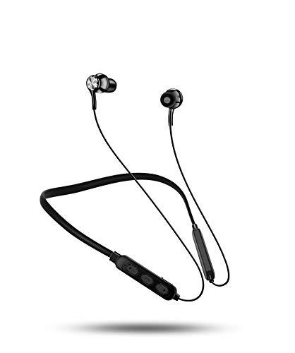 Bluetooth Headphones Sport,10Hrs & Bluetooth 5.0 Wireless Sport Earphones, IPX7 Waterproof Bluetooth Headset, Noise Cancelling Mic, Bluetooth Earphones (Black) (Black)