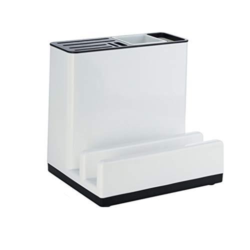 Estante Almacenamiento en rack rack multifuncional creativa cocina for guardar objetos y Tabla de cortar de cocina de almacenamiento en rack de almacenamiento en rack Blanca Repisa ( Color : White )