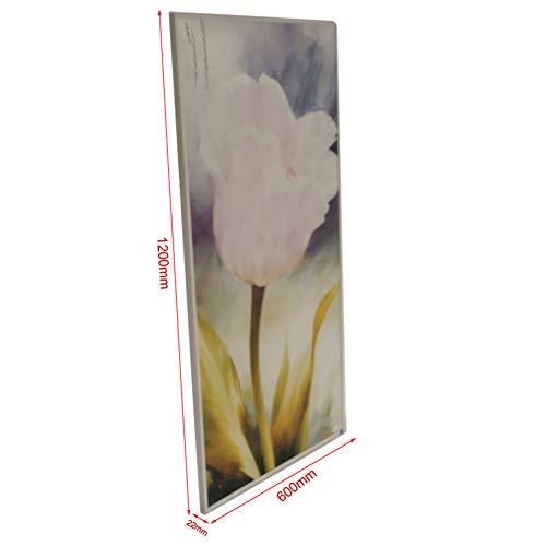 Infrarot-Heizung-Panel Raumheizung Elektrische Heizungen 720watt Tulpe Weiß Rahmen Bild 2*