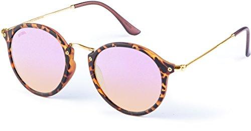 MSTRDS Unisex Spy Sonnenbrille, Mehrfarbig (Havanna/rosé 5154), (Herstellergröße: one Size)