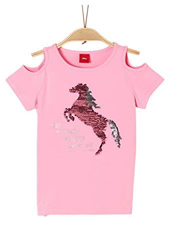 s.Oliver Junior Mädchen 403.10.004.12.130.2037923 T-Shirt, 4464 Pink, 116/122/REG