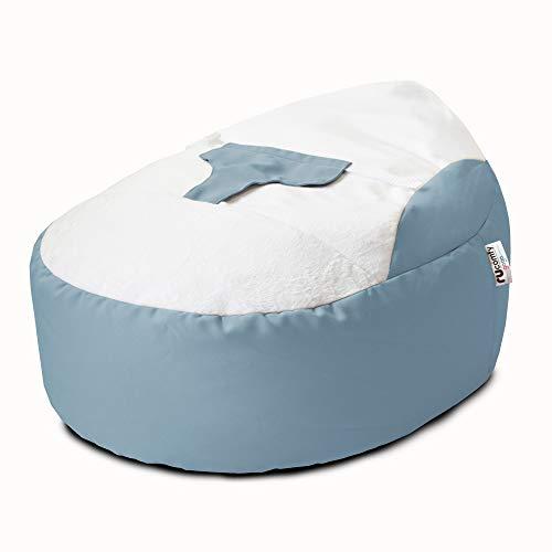 rucomfy Gaga Baby Beanbag Support Chair for 0-6 Months - Newborn Essentials (Dusk Blue)